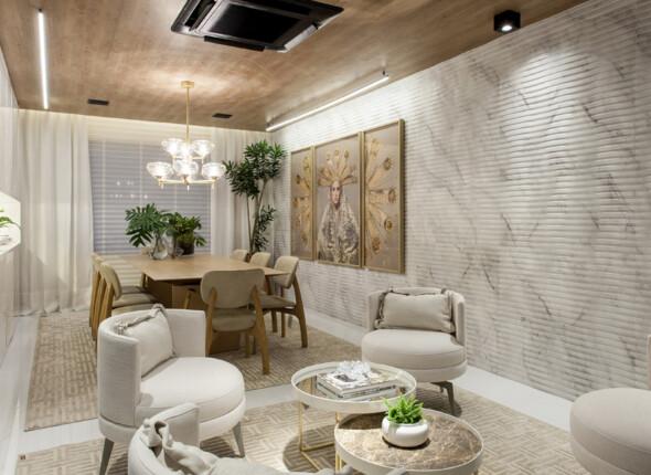 Notícias Relacionadas: Sala de Jantar, de Adelia Estevez, apresenta Rigatto Calacatta na Mostra Casas Conceito